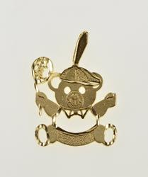 14K Yellow Gold Stylized Teddy Bear Balloon Child Baby Charm/Pendant