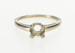 Platinum 6.1mm Round Brilliant Cut Engagement Setting Ring
