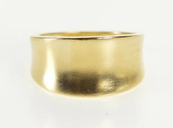 10K Yellow Gold Concave Design Graduated Fashion Band Ring
