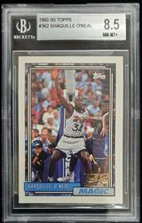 1992 Topps #362 Shaquille O'neil Rookie BVG 8.5