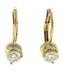 Amazing Diamond Lever Back Dangle Earrings