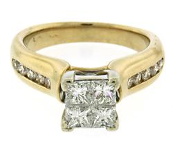 Amazing 1ctw Invisible Set Diamond Ring
