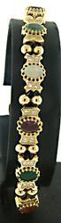 Stylish Vintage Multi Stone Slide Bracelet