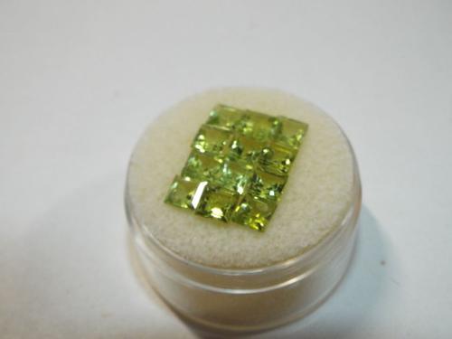 Parcel lot PERIDOT Princess cut gemstones 4.80 carats
