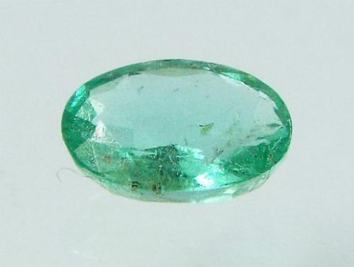 Vivid Green Oval Colombian Emerald Gemstone  .73 Carats