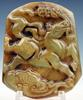 Jade Hand Carved Horse Mouth Holding Coins Pendant