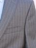 Stylish 2-Button Pinstripe Made in Italy Suit