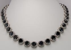 Fantastic Black & White Diamond Necklace, 14KT