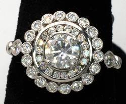 Amazing 1.10ctw Diamond Ring in Platinum