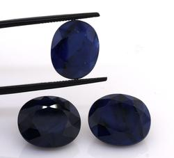 Amazing Set of Three Blue Sapphires, 28.92ctw
