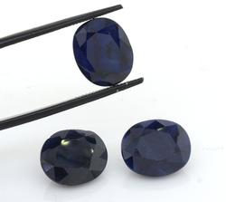 Lovely Dark Set of 3 Blue Sapphire, 19.55CTW