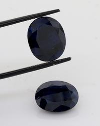 Exquisite 12.30ctw Set of 2 Blue Sapphires