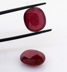 Set of 2 Beautiful Oval Rubies, 15.66ctw