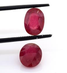 Lovely Set of 2 Rubies, 6.83ctw