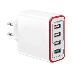 3.0 Fast Charging 2.4A 4-Ports USB Charger