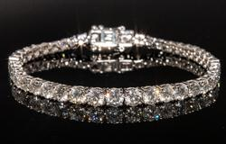 18KT 11.94 ctw Diamond Tennis Bracelet
