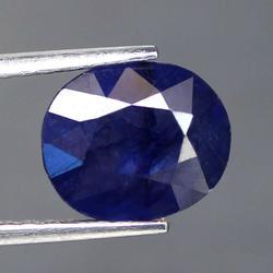 Lavish 4.63ct ink blue Sapphire from Madagascar