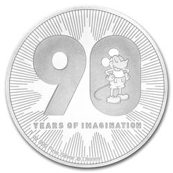 2018 Niue 1oz Silver $2 Disney Mickeys 90th Anniversary
