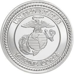 US Marines .999 Silver 1 oz Round
