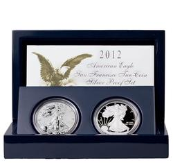 American Silver Eagle 2 Coin 2012 San Francisco Set