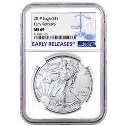 Certified Silver Eagle 2019 MS69 NGC Early Releases