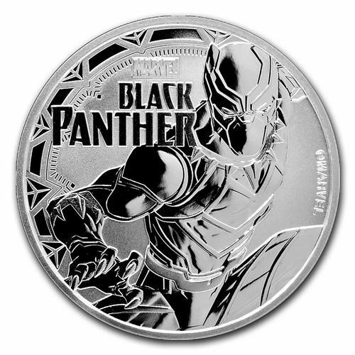2018 Tuvalu 1oz Silver $1 Marvel Series Black Panther