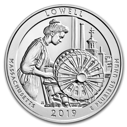 2019 Silver 5oz Lowell National Historical Park, MA