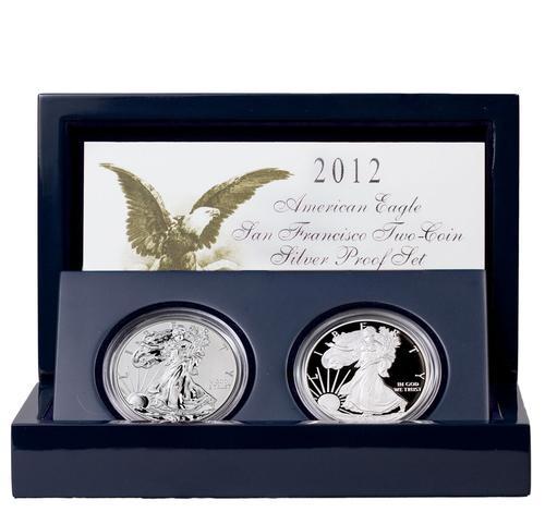 American Silver Eagle 2 Coin 2012 San Francisco Set