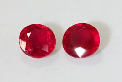 Divine Natural Ruby Pair - 2.73 cts.