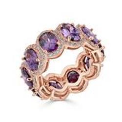 Stunning Sterling Silver Gemstone Band Ring