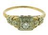Charming Vintage Two Tone Diamond Ring