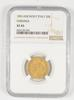 XF45 1851 Sardinia Italy 20 Lire Gold - Anchor P - Graded NGC