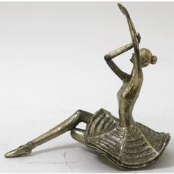 Sitting Ballerina Cold Cast Bronze Sculpture