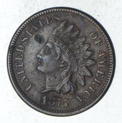 1875 Indian Head Cent - Circulated