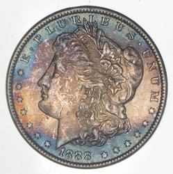1888 Morgan Silver Dollar - TONED