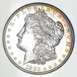 1882-S Morgan Silver Dollar - Rainbow Toning
