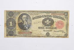 1891 $1 Treasury Star Note - Horse Blanket