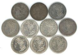 10 Diff. Nicer Morgan Silver Dollar 1879 to 1900