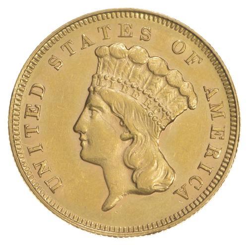1881 $3.00 Indian Princess Head Gold Piece