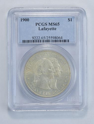 MS65 1900 Lafayette Commemorative Dollar - Graded PCGS