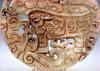 Large Jade Stone Old Nephrite Carved Pendant