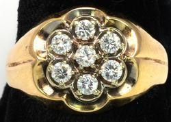 littering 0.40CTW Diamond Ring in Gold