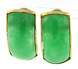 Beautiful Green Jade Earrings