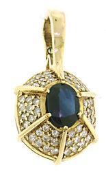 Pleasing Sapphire and Diamond Slide Pendant