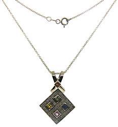 Stylish Diamond and Multi Gemstone Necklace
