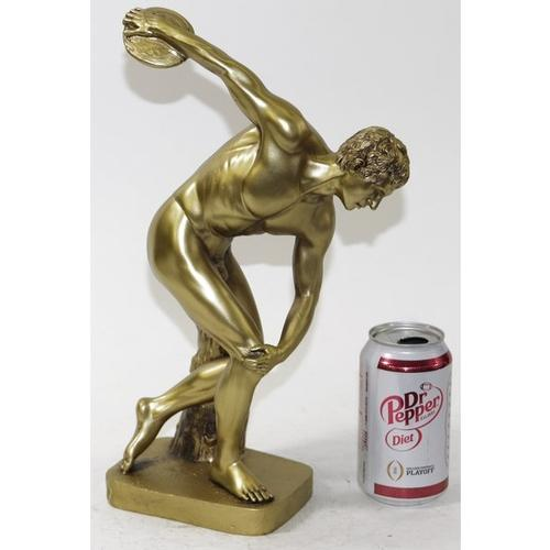 Famous Discus Thrower Cold Cast Bronze Sculpture