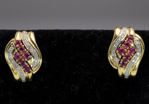 Incredible Ruby & Diamond Earrings in Gold