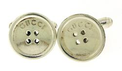 Gucci Button Cufflinks in Sterling Silver