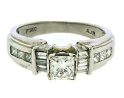 Elegant Princess Cut Center Diamond ring