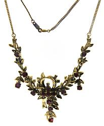 Gold Plated Silver Ruby Waterfall Necklace
